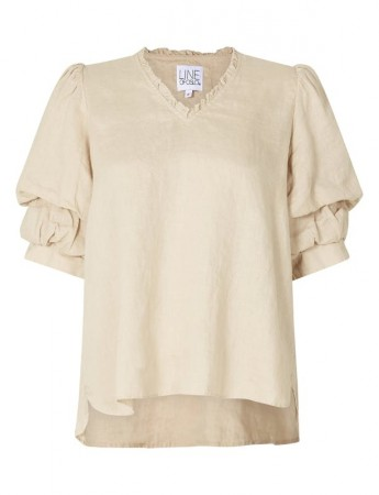 Line Of Oslo Pie Linen Blouse Sand