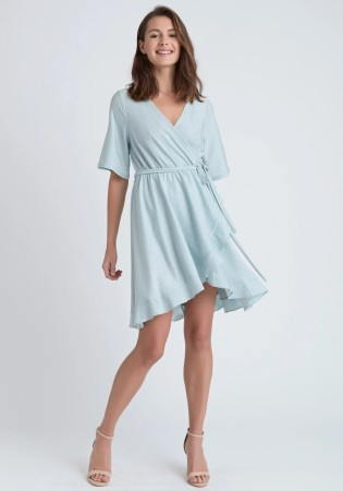 Dry Lake Nanny Dress Aqua Glitter Lurex