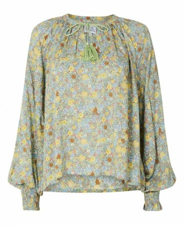 Line Of Oslo Suri Flowerblouse Green