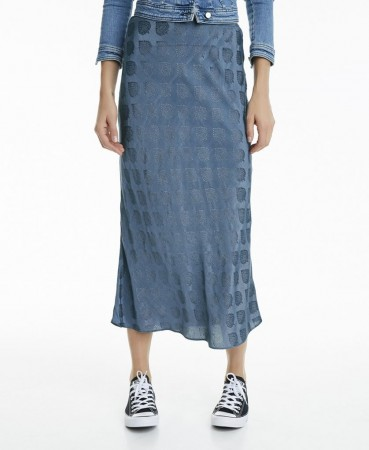 Line Of Oslo Zuri Blue Skirt