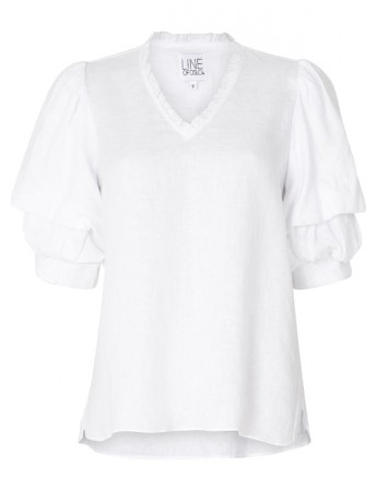 Line Of Oslo Pie Linen Blouse White