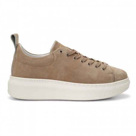 Jim Rickey Club Tech Wmn Cow Suede/polido Beige