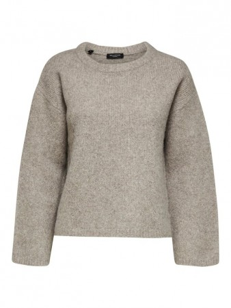 Selected Femme Yak Mix Ls Knit O-neck